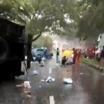 Kecelakaan depan Permata Puri